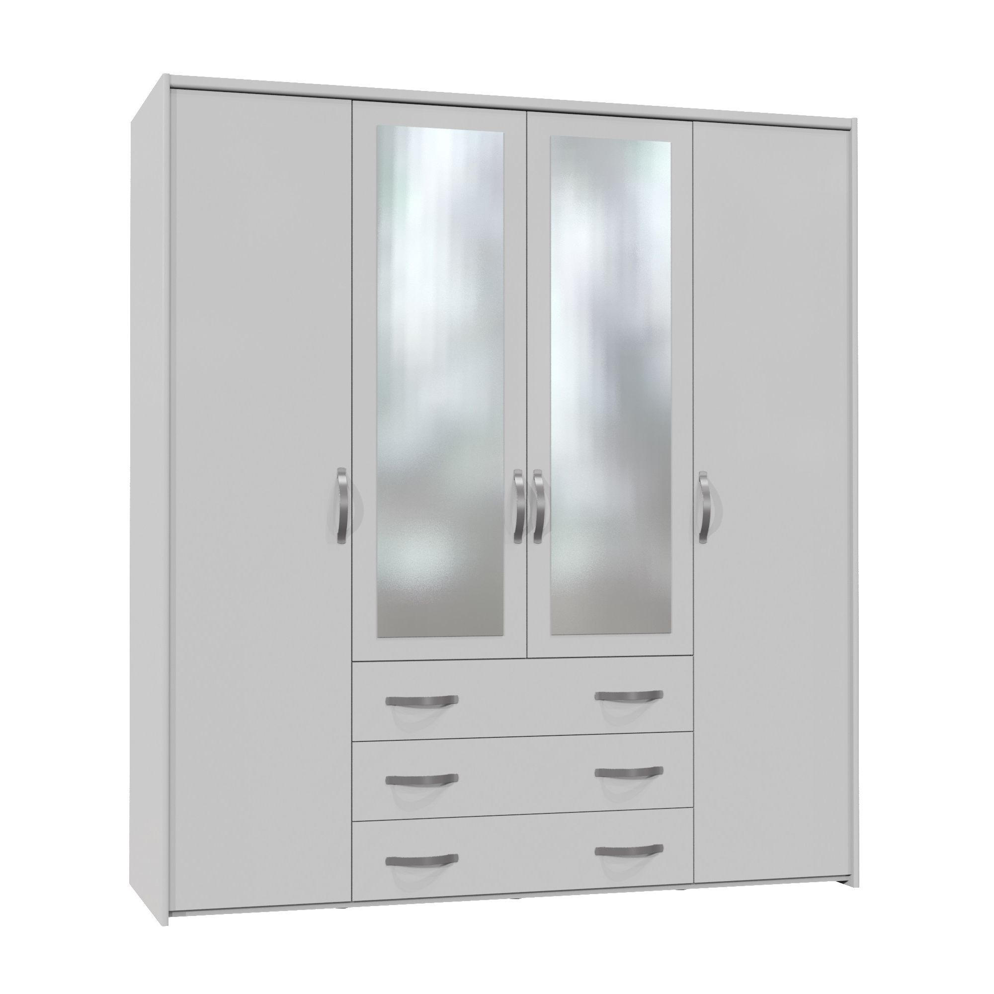 Altruna Now 4 Doors Wardrobe - White at Tesco Direct