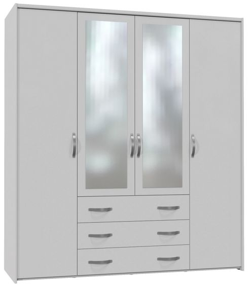 Altruna Now 4 Doors Wardrobe - White