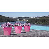Set of 2 Large 40cm Capri Pots - Fuschia