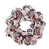 Large Natural Pine Cone & Leaf Christmas Wreath