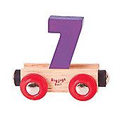 Bigjigs Rail Rail Name Number 7 (Purple)