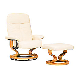 Sofa Collection Cezanne Swivel Chair And Footstool - Cream