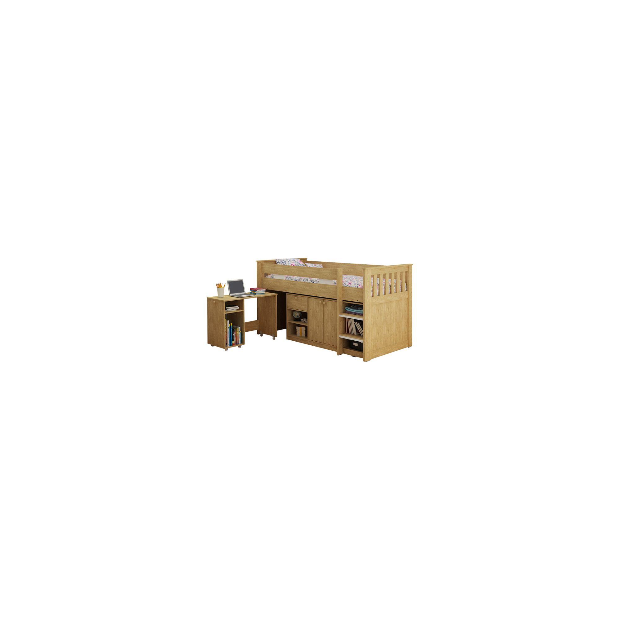 Home Essence Merlin Study Bunk Bed - Oak at Tesco Direct