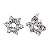 Jewelco London Rhodium-Coated Sterling Silver Stud Earrings