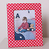Red Dotty Children's Photo Frame