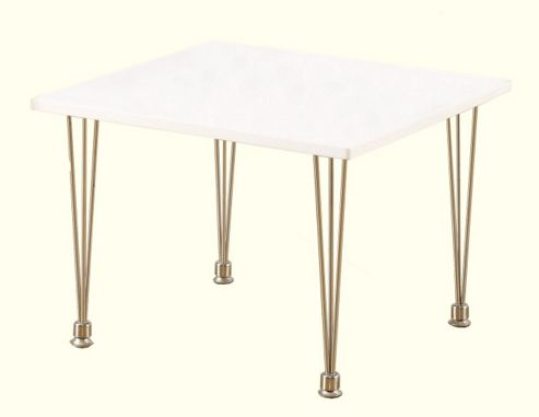 Home Essence Franklin Lamp Table in White - White