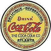 Coca Cola Vintage Keg Label Tin Sign