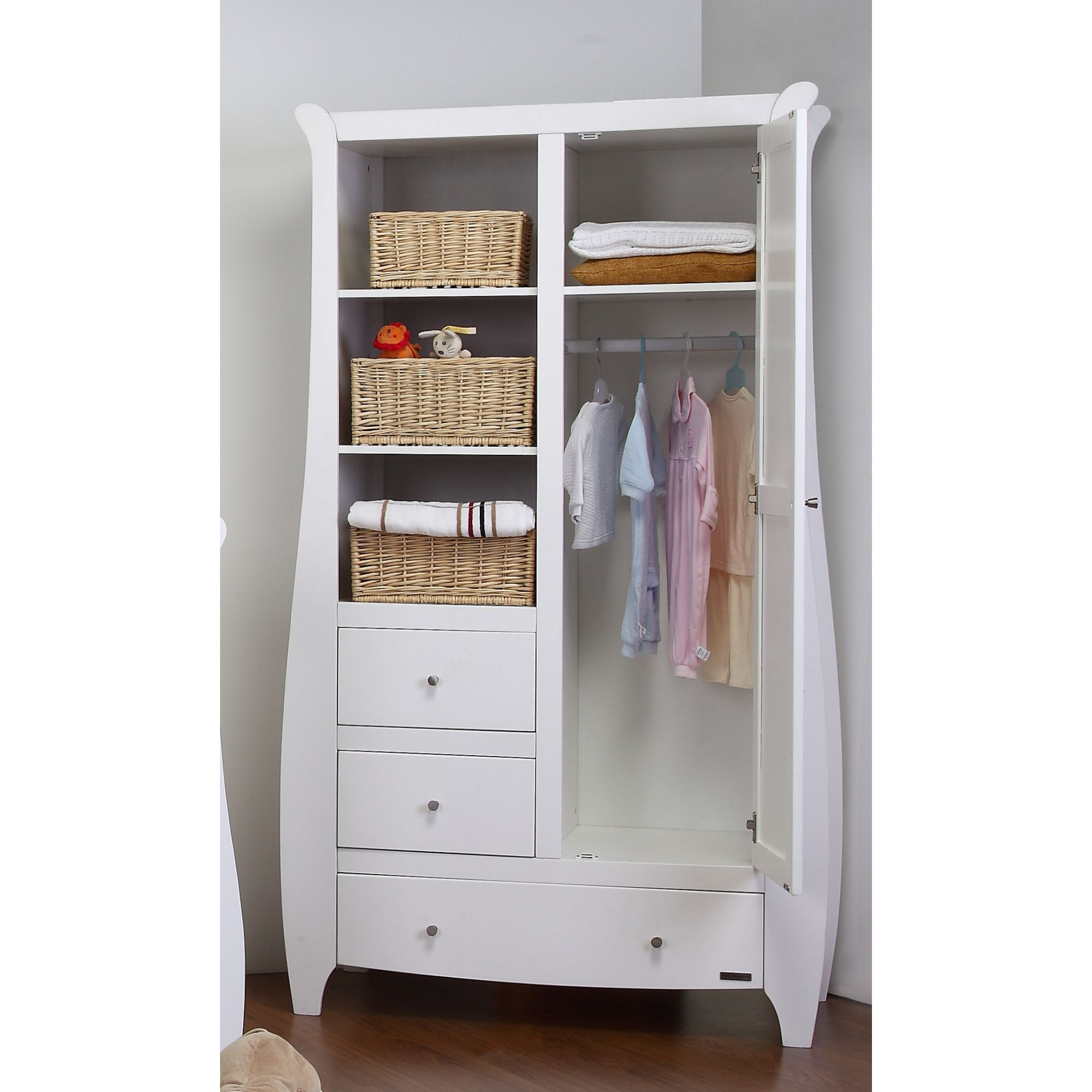 Tutti Bambini Lucas Wardrobe in White Matte at Tescos Direct