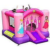 Princess Slide and Hoop Bouncy Castle