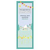 Great British Bake Off 2016 Slim Calendar