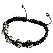 Black Crystal and Hematite 8mm Bracelet