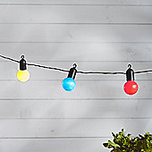 20 Multi Coloured LED Festoon Party Lights