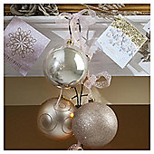 Christmas Baubles, Gold, 3 pack