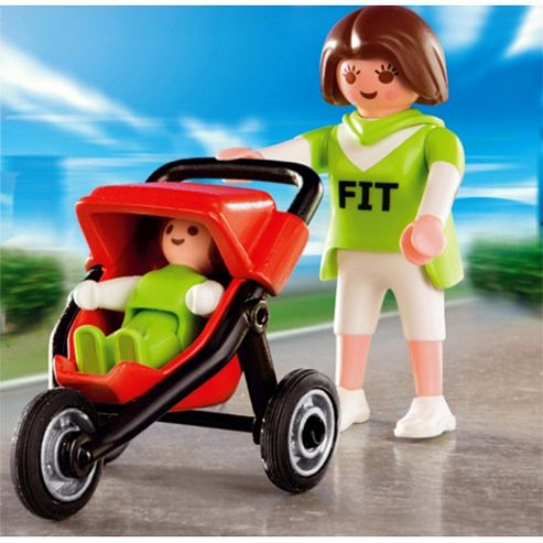 Playmobil - Mum with Jogging Stroller 4697