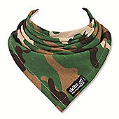 Skibz Bandana Dribble Bib - Khaki Camouflage