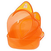 Vital Baby Feeding Bowls - Orange - 3 pack