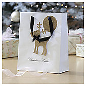 Glitter Reindeer Christmas Gift Bag, Medium