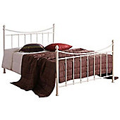 """Ivory Edwardian Style Metal Bed Frame - Double 4ft 6"""""""