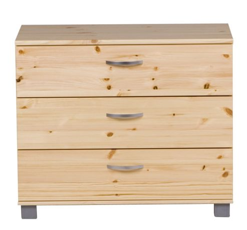 Thuka Trendy Three Drawer Chest - Natural Lacquer - Black