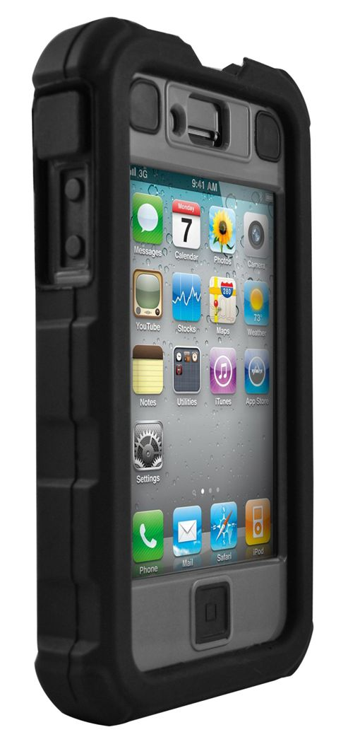 Ballistic Shell Hard Core Case for iPhone 4 - Black