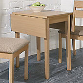 Sutcliffe Furniture Casual Dining Rectangular Drop Leaf DiningTable - Beech Top / Grey Legs