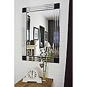 Large All Glass Bevelled Triple Edge Venetian Mirror 3Ft3 X 2Ft3 70Cmx100cm