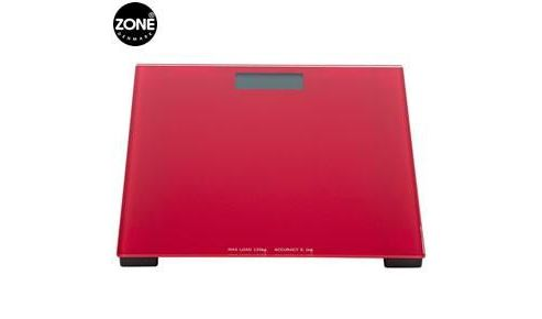 Confetti bathroom scales, red