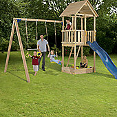 Blue Rabbit Cabanna Tower and Swing Set - Blue