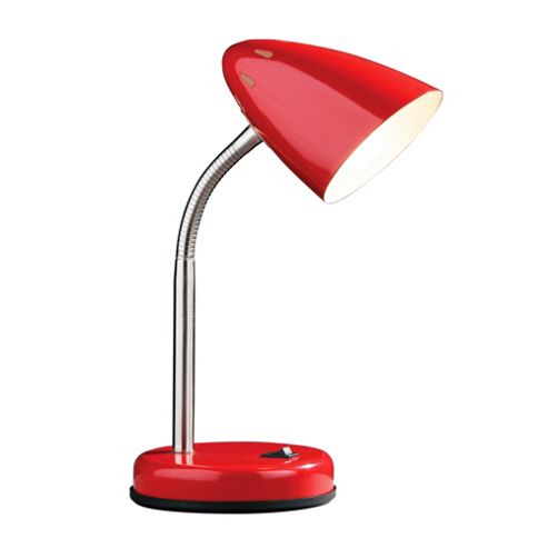 Premier Housewares Flexi Desk Lamp - Red