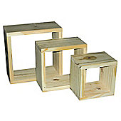 Home Essence Natural Wall Cubes (Set of 3)