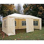 AirWave Party Tent Marquee Fully Waterproof With WindBars - 6x3m in Beige