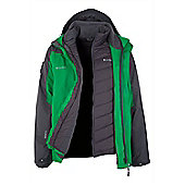 Zinal Extreme Mens Hooded Waterproof 3 in 1 Ski Snowboard Winter Jacket - Green