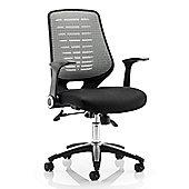 Maestro Tarnby Airmesh Seat Chair - Silver