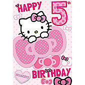 Hello Kitty Birthday Card - 5 Years