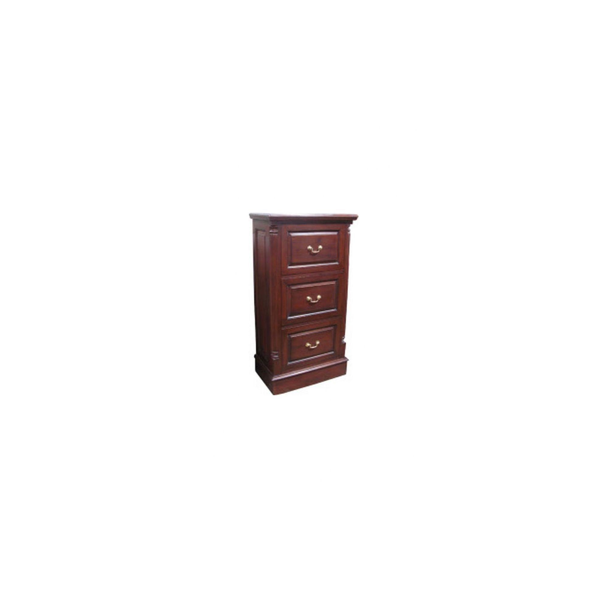 Lock stock and barrel Mahogany 3 Drawer Filing Cabinet with Brass Handles in Mahogany at Tesco Direct
