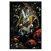 Alice in Wonderland Richard Biffle Gloss Black Framed White Rabbit Poster