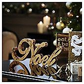 Gold Glitter Noel Christmas Room Decoration