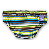 Bambino Mio Swim Nappy - Large Brown Stripe 9-12kg