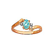 QP Jewellers Diamond & Blue Topaz Embrace Ring in 14K Rose Gold