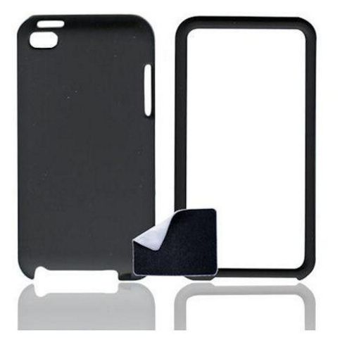 U-bop Accessories 1082 Apple iPod Touch 4 (Current Model) U-bop ShadowShell Rubberised Full-Body Case and StampWipe - Charcoal Black