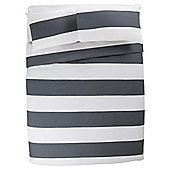 Tesco Basic oversize stripe duvet set DB shadow