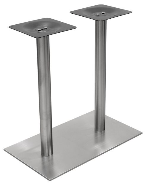 Home Essence Rectangular Double Column Dining Table Base in Stainless Steel
