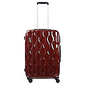 Tesco 4-Wheel Gloss Suitcase, Red Medium