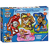 Paw Patrol '4 Large Shaped' Jigsaw Cardboard Puzzle