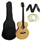 Tiger Natural Acoustic Guitar Package