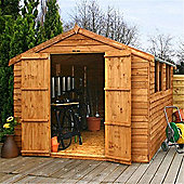 12ft x 8ft Overlap Apex Shed With Double Doors