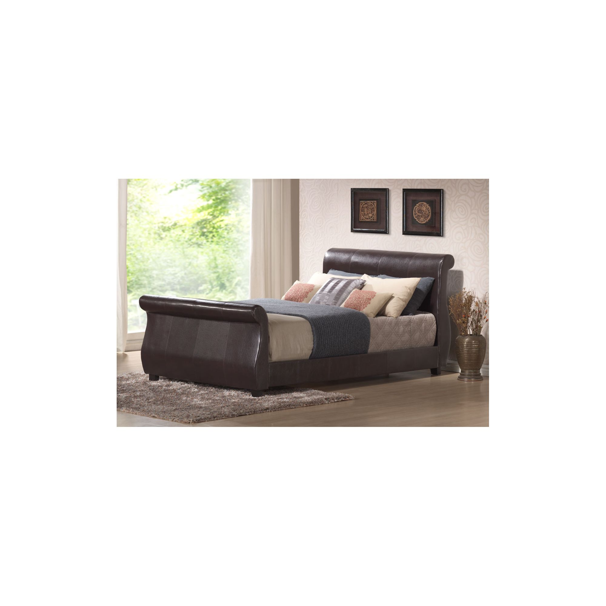 Interiors 2 suit Winchester Bedframe - Double - Brown at Tesco Direct