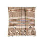 Dickins & Jones Woven Check Cushion, Natural