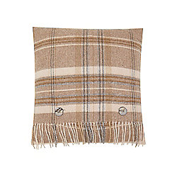 Dickins & Jones Woven Check Cushion - Natural