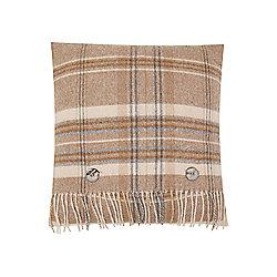 Dickins & Jones Woven Check Cushion - Natural